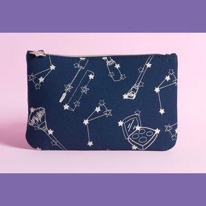 Makeup Bag Galaxy Star Cosmetic Clutch Purse Navy